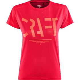 Craft Eaze Logo Hardloopshirt korte mouwen Dames roze